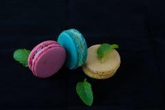 Macarons den franska läckra efterrätten Royaltyfri Bild