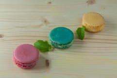 Macarons den franska läckra efterrätten Royaltyfria Bilder