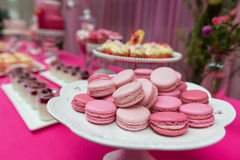 Macarons Dessert Stock Photo