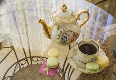 Macarons di mattina Fotografia Stock