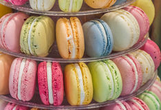 Macarons in different colors and flavors Stock Photography