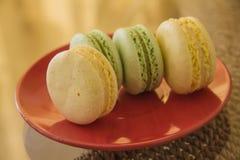 Macarons doux Photos stock