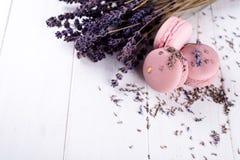 Macarons doux de lavande Images stock