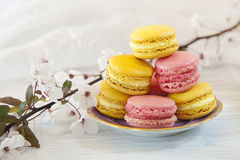 Macarons dulce imagen de archivo libre de regalías