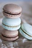 Macarons empilés Photographie stock