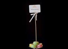 Macarons en pastel Images libres de droits