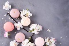 Macarons en pastel doux Photo stock
