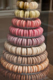 Macarons forming pyramid Royalty Free Stock Photography
