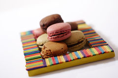 Macarons in a frame Royalty Free Stock Photo