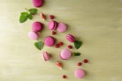 Macarons français de baies Photographie stock
