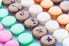 Macarons français en papier Photographie stock libre de droits