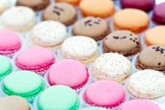 Macarons français en papier Photo stock