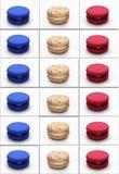Macarons France plakatowa flaga Zdjęcie Royalty Free