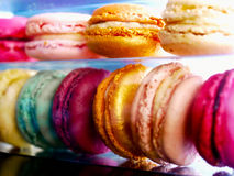 Macarons franceses Foto de Stock