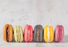Macarons franceses Imagem de Stock
