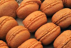 Macarons franceses Imagenes de archivo