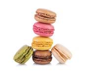 Macarons franceses Fotografia de Stock Royalty Free