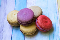 Macarons franceses do deserto Foto de Stock Royalty Free