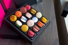 Macarons franceses do sanduíche Fotografia de Stock