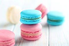 Macarons franceses saborosos Imagem de Stock