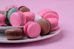 Macarons franceses tradicionais Foto de Stock Royalty Free