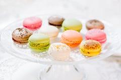 Macarons Franse gebakjes Royalty-vrije Stock Afbeeldingen