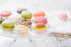 Macarons Franse gebakjes Stock Foto's