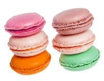 Macarons franskakakor Arkivfoton