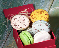 Macarons in Gift Box Royalty Free Stock Photo