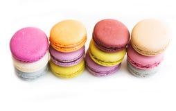 Macarons ha isolato Immagini Stock