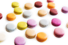 Macarons ha isolato Immagine Stock