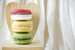 Macarons with heart Royalty Free Stock Photography
