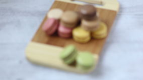 Macarons stock footage