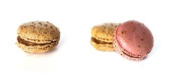 Macarons isolates on white Royalty Free Stock Photos