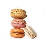 Macarons isolates on white stock photography