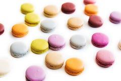 Macarons isolerade Fotografering för Bildbyråer