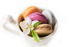 Macarons isolerade Arkivbilder