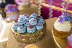 Macarons-Kuchen Lizenzfreie Stockbilder