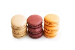 Macarons lokalisierte Lizenzfreies Stockbild