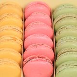 Macarons macaroons cookies dessert in a box square from France Royalty Free Stock Photography
