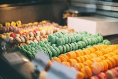 Macarons in Mallorca. Pastry shop with macarons in Sóller, Mallorca royalty free stock images