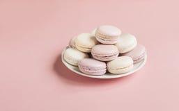 Macarons mous doux de plat Photos libres de droits