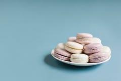 Macarons mous doux de plat Image libre de droits