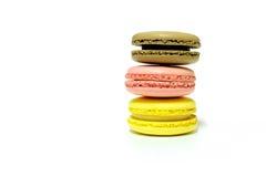 Macarons na białym tle Obrazy Stock