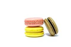 Macarons na białym tle Zdjęcie Royalty Free