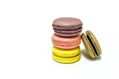 Macarons na białym tle Fotografia Royalty Free
