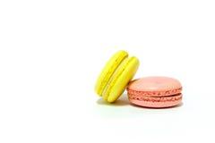 Macarons no fundo branco Imagem de Stock