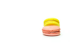 Macarons no fundo branco Fotografia de Stock Royalty Free