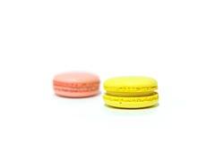Macarons no fundo branco Foto de Stock