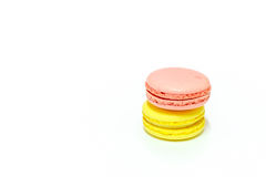 Macarons no fundo branco Foto de Stock Royalty Free